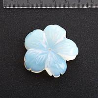Фурнитура Цветок натуральный камень Ø 4,1 см Лунный камень