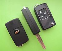 Chevrolet - кChevrolet - корпус выкидного ключа 3 кнопки, DWO4R (Buick)рпус выкидного ключа 2 кнопки, HU100