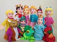 """Кукольный театр """"Золушка, Снежная королева, Царевна лягушка и Золотой петушок"""" (11 кукол) + большая ширма (149*67*55см)"""