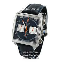 Мужские наручные часы Tag Heuer Monaco Calibre 12 Chronograph Black/Silver/Blue
