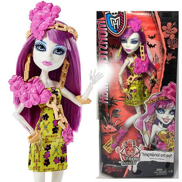 Куклы Monster High монстры на отдыхе Спектра Ghouls' Getaway Spectra Vondergeist Монстер Хай