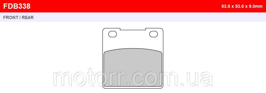 Тормозные колодки FERODO FDB338P