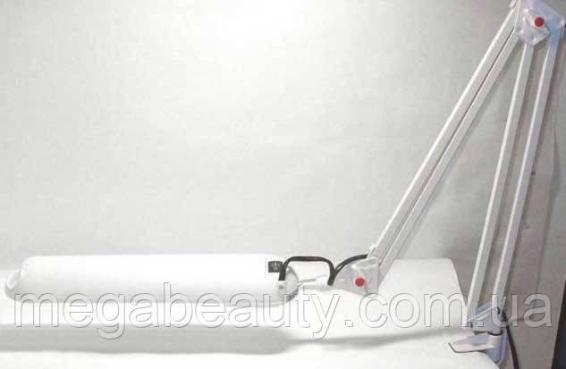 Настольная лампа на струбцине DELUX TF-01 белый цвет