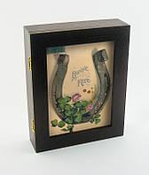 """Настенная ключница """"Подкова клевер"""" размер 20,5х26,5 см"""