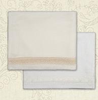Полотенце для крещения Натхнення Махра двустороннее Белый / Молочный цвет 75х120 см Бетис