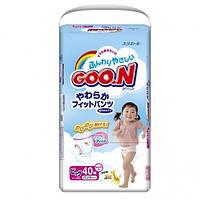 Подгузники-трусики для девочек GooN, 12-20 кг, 40 шт
