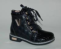 Демисезонные ботинки для девочки, GFB черный V, 27