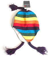 Шапка детская вязанная теплая зимняя флис Ergee ПО головы 22