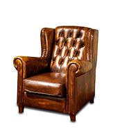 """Солидное кожаное кресло """"Chester Berge"""" (Честер Берже). (95 см)"""