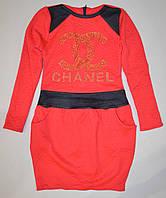 Детское платье красное Шанель 134, 140р