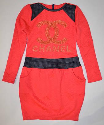 Красное платье Шанель 134, 140р