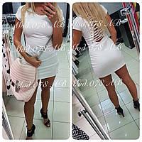 Платье со шнуровкой на спине .078 (ЛЛ)