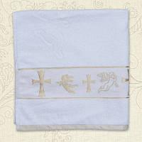 Полотенце для крещения Хрещення Махра двустороннее Цвета в ассортименте 70х140 см Бетис