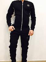 Утепленный мужской спортивный костюм PHILIPP PLEIN, черного цвета