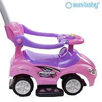 """Машинка-каталка с ручкой толкателем SUN BABY """"Mega Car"""" для детей"""