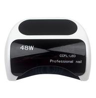 LED CCFL лампа для маникюра 48W с выдвижным дном, сенсор, таймер с дисплеем
