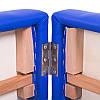 Двухсекционный деревянный складной стол VICTORY (NEW TEC) темно-синий, светло-бежевый, фото 2