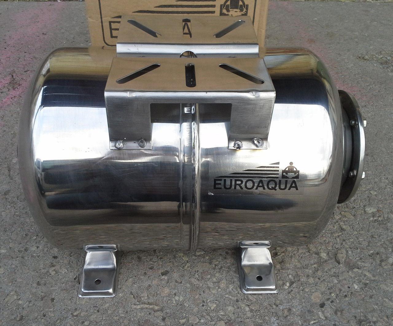 Гідроакумулятор Euroaqua ємність 100 літрів , горизонтальний , з нержавіючої сталі