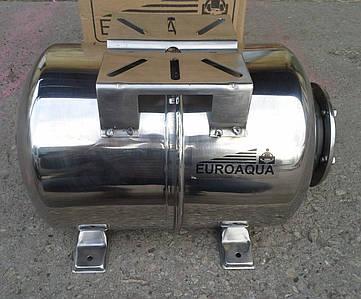 Гидроаккумулятор Euroaqua ёмкость 100 литров , горизонтальный , из нержавеющей стали