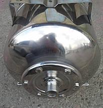Гідроакумулятор Euroaqua ємність 100 літрів , горизонтальний , з нержавіючої сталі, фото 2