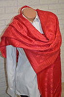 Палантин шарф платок Louis Vuitton ярко красный