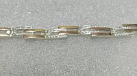 Серебряный женский браслет с золотом Афродита