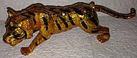 """Шкатулка-сувенир ювелирная для украшений и драгоценностей """"Фаберже"""" Тигр со стразами, металлическая"""