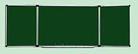 Доска магнитная меловая с 5 рабочими поверхностями (100х400)