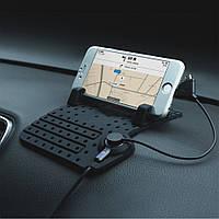 USB с зарядкой держатель телефона для автомобиля с анти-скольжением на торпеду