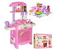 Кухня детская с плитой, посудкой и аксессуарами, вода, свет, звук
