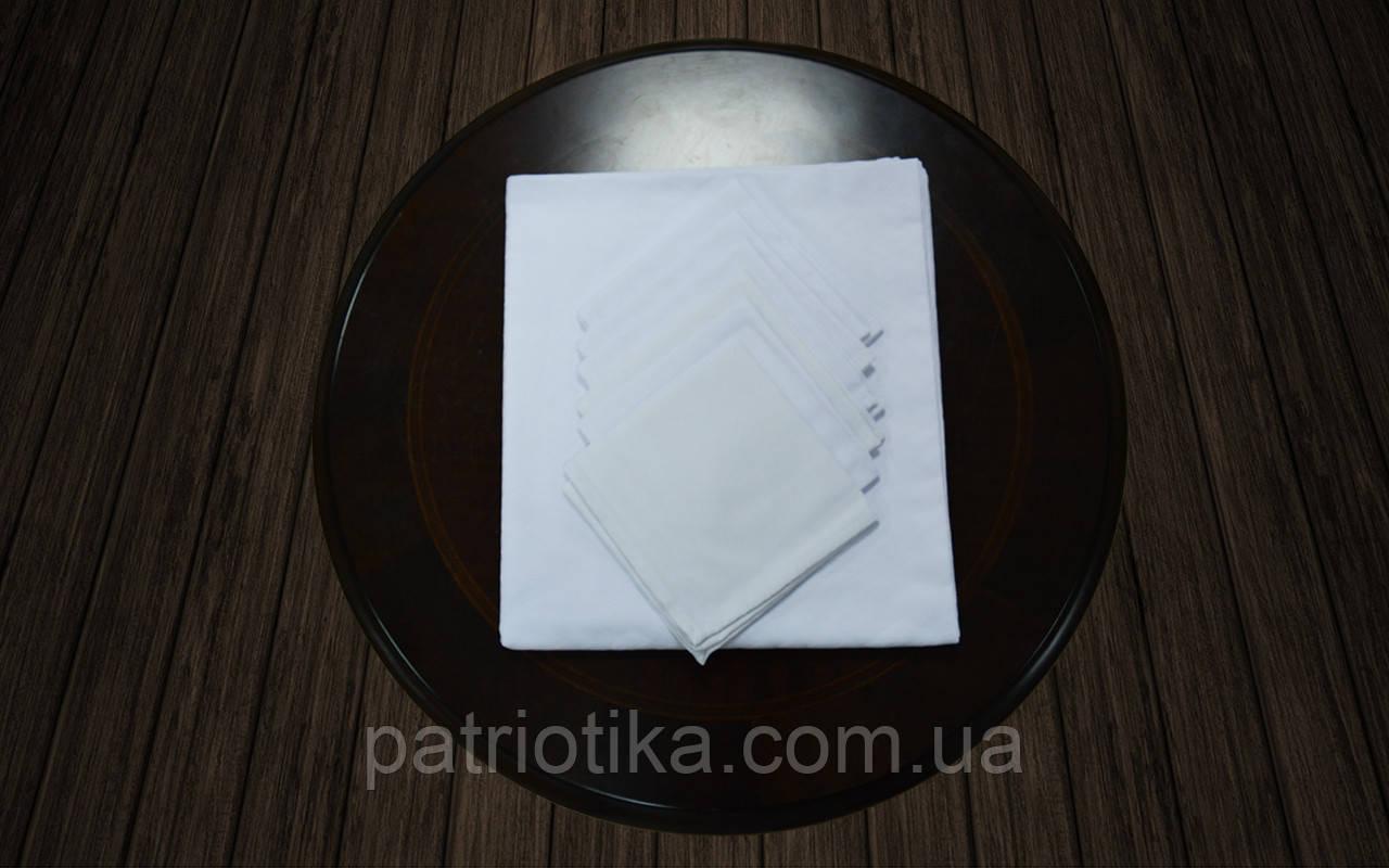 Комплект столовый белый | Комплект столовий білий 120x145