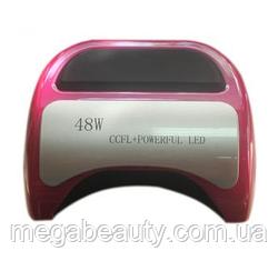 LED CCFL лампа для маникюра 48W с выдвижным дном, сенсор, таймер для полимеризации лаков,гель-лаков