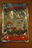 Новогодний фольгированный пакет 30х50 см