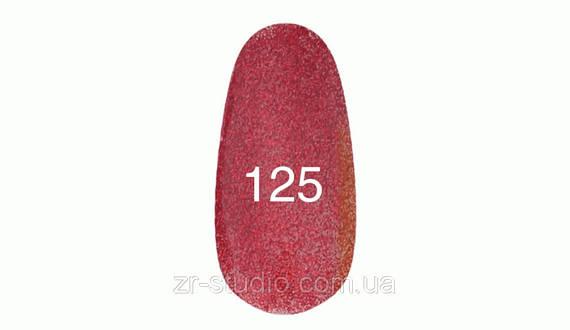 Гель лак Kodi professional 7мл. №125 (Красный плотный блеск на прозрачной основе)