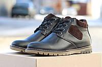 Ботинки Yuves (чорные), зимние ботинки на меху