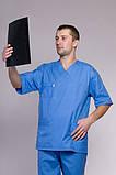 Мужской хирургический медицинский костюм 2223 (батист), фото 2