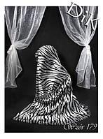 Плед из микрофибры Зебра серая, 160*210, 200*220, Польша, фото 1