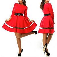 """В наличии  Платье """"Соблазн"""" красное с вставками длинный рукав"""