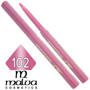 Malva - Карандаш M-300 для губ механический Тон №102 rose перламутр
