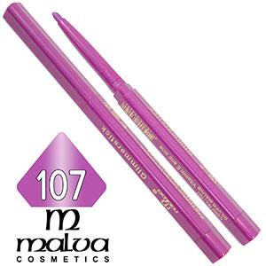 Malva - Карандаш M-300 для губ механический Тон №107 silver mauve перламутр