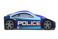 """Детская кроватка машина """" Бренд"""" Полиция 70х140"""