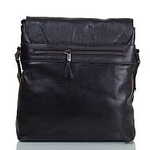 Мужская кожаная сумка черная из натуральной кожи Tofionno TF0010371, фото 3