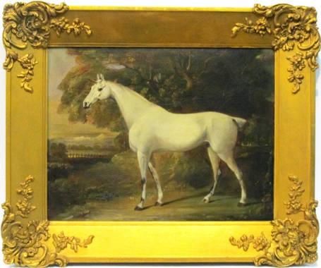 Картина Белый конь Томас Бич конец XVIII-го века, фото 2