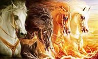 Набор алмазной мозаики Сила лошадей 40 х 30 см (арт. FS382)