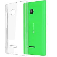 Прозрачный Slim чехол Microsoft Lumia 535 (0,3 мм)