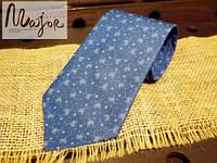 Галстук синего цвета в одуванчики
