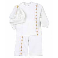 Крестильный костюм Світлячок для мальчика Интерлок Цвет ассорти размер 56-86 Бетис