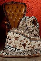 Плед из микрофибры Бежевая тигровая роза , 160*210, 200*220, Польша