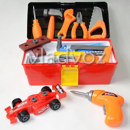 Детские инструменты набор ящик машинка шуруповерт Toolbox Center, фото 2