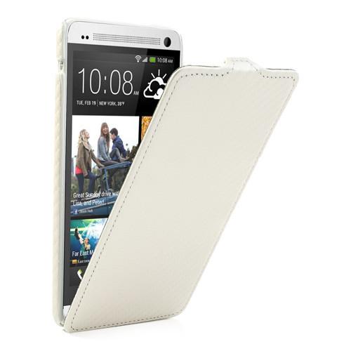 Чехол HTC ONE MAX вертикальный флип, карбон Белый
